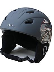 Универсальные шлем Л: 58-61CM Спортивные Ультралегкий (UL) Фиксированный 14 CE EN 1077 Снежные виды спорта / Лыжи Белый / Чёрный