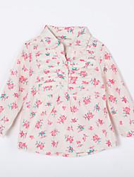 малыш Блуза-На каждый день,С принтом,Хлопок,Осень-Бежевый
