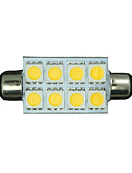 10x warmweiß Girlande 42mm 5050 8-SMD-211-2 578 569 Dome Karte Innenraum LED-Licht