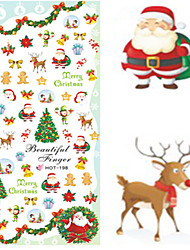 1 pcs Nail Art Water Transfer Christmas Sticker Interesting Christmas Image Nail Beauty HOT198