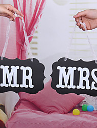 Chair Bunting Banner Wedding Photo Props Decoration  MR&MRS