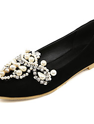 Women's Shoes Flats Spring/Fall/Winter Comfort/Pointed Toe/Flats Office Career/Casual Flat Heel Rhinestone/Imitation
