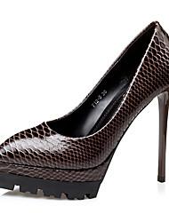 Damen-High Heels-Hochzeit Kleid Party & Festivität-Lackleder-Stöckelabsatz-Pumps Komfort Neuheit-Schwarz Rot Grau