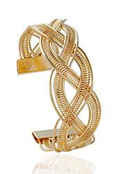 Браслеты Браслет разомкнутое кольцо Сплав В форме трубки Мода Бижутерия Подарок Золотой / Серебряный,1шт