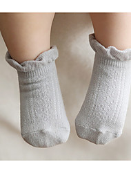 Baby Casual/Daily Solid Socks,Cotton,Spring,Multi-color