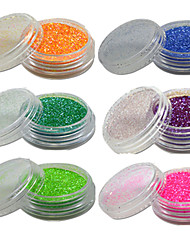 1 Bottle Nail Art Beautiful Noctilucent Powder Colorful Color Glitter Shining Nail Beauty Decoration YG07-12