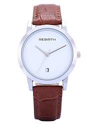 REBIRTH Dámské Módní hodinky Náramkové hodinky Křemenný Kalendář PU Kapela Běžné nošení Černá Červená Hnědá Hnědá Červená Černobílá Černá