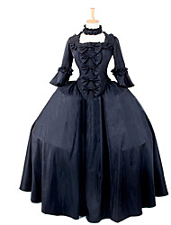Steampunk®Women's Elegant Gothic Dress Costume Women Black Halloween Costume