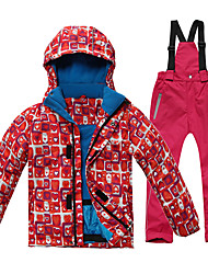 Sports Ski Wear Clothing Sets/Suits Kid's Winter Wear Classic Winter Clothing Breathable / Thermal / Warm / WindproofSkiing / Camping /