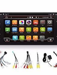 4 core 2 din 6.95''car gps di lettore DVD / CD Navi Toyota interchargable radio stereo auto Dash 3G wifi bt