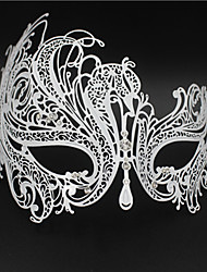 Masquerade  Laser-cut Metal Rhinestone Party Mask Venetian Mask For Women4002A1