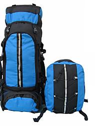 80 L sac à dos Camping & Randonnée / Escalade Extérieur Etanche / Sac de cruche intégré Bleu Nylon