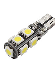 10x cuneo canbus T10 bianco 192 168 194 W5W 9 5050 SMD LED errore lampadina luce 12v gratis