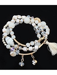 Bracelets Wrap 1pc,A la Mode Forme de Cercle Café / Noir / Blanc / Rouge / Incarnadin Alliage Bijoux Cadeaux