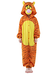 kigurumi Pyjamas New Cosplay® Tiger Collant/Combinaison Fête / Célébration Pyjamas Animale Halloween Orange Mosaïque vison de velours