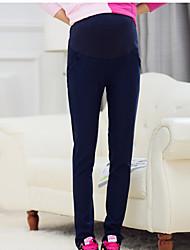 Pantalon Maternité Slim simple Coton Micro-élastique