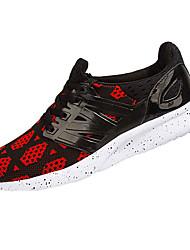 Feminino Masculino-Tênis-Conforto-Rasteiro-Rosa Fúcsia Preto e Vermelho Preto e Branco-Tule-Para Esporte
