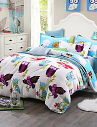 Dreams Print Bedlinen Fleece winter bedding set queen king size soft bedsheet pillowcase Duvet cover 4pcs bed set