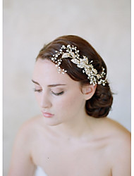 Women's Alloy / Imitation Pearl Headpiece-Wedding / Casual Headbands / Hair Combs / Flowers / Head Chain / Hair Tool1