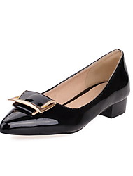 Women's Pointed Closed Toe Low Heels Solid Pull On Pumps-Shoes