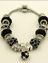 Strand Bracelets 1pc,Black / Purple Bracelet Fashionable Round Alloy / Rhinestone Jewellery