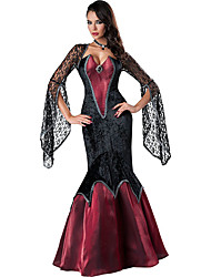 Gothic Lace Vampire Costume Fantasy Game Sxy Witch Cosplay Women Halloween Costumes Mermaid Dress