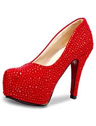 Women's Heels Summer Heels Glitter Party & Evening Stiletto Heel Sparkling Glitter Red / Silver Others
