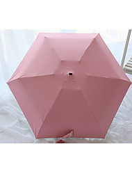 Candy Color Black Plastic Five Folding Mini Umbrella Sun Umbrella Sun Anti Ultraviolet Umbrella