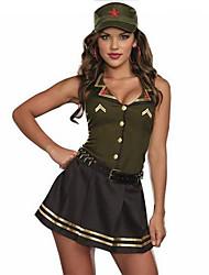 Costumes de Cosplay / Costume de Soirée Cosplay / Costumes de carrière Fête / Célébration Déguisement Halloween Vert / Bleu Couleur Pleine