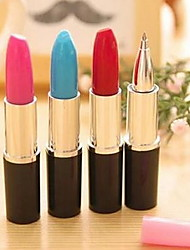 Lovely Lifelike Lipstick Ball-point Pen Learning Office Supplies (Random Color)