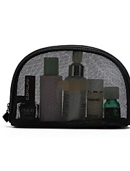 A Stylish Black Double Gauze Bag Transparent Double Net Bag