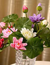 Hi-Q 1Pc Decorative Flower Lotus Wedding Home Table Decoration Artificial Flowers