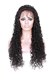 densidade 130% virgem peruca humana brasileiro do cabelo do laço com cabelo do bebê excêntricas rendas frente perucas encaracoladas para