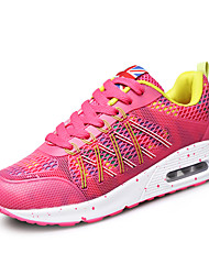 Фиолетовый / Красный / Оливковый-Женская обувь-Для прогулок-Тюль-На плоской подошве-На плокой подошве-На плокой подошве
