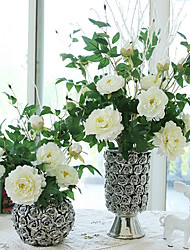 3Head/Branch Silk High Simulation Peony Home Decoration  Artificial Flower
