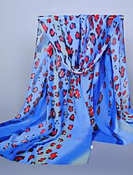 Bufanda Mujer Vintage / Bonito / Casual-Raso Leopardo Rectángulo