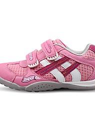 Girl's Sneakers Fall / Winter Comfort / Round Toe PU / Tulle Casual Flat Heel Magic Tape / Plaid Gray / Navy Sneaker