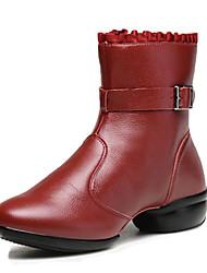 Non Customizable Women's Dance Shoes /  Modern Boots / Sneakers Flat Heel Practice / Outdoor Black / Red