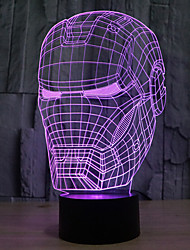 star wars homme touche gradation LED 3D lumière de nuit lampe atmosphère décoration 7colorful éclairage nouveauté lumière de Noël