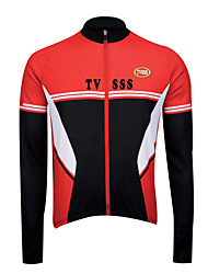 Sports Bike/Cycling Tops Men's Long Sleeve Breathable / Wearable / Windproof / Ultra Light Fabric / Thermal