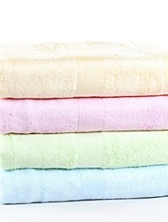 "1 PC Bamboo Fiber Bath Towel 27"" by 55"" Super Soft Solid Multicolor"