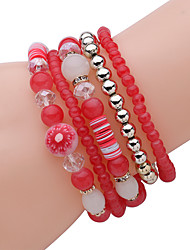 Women Alloy Silver Owl Strand Bracelets