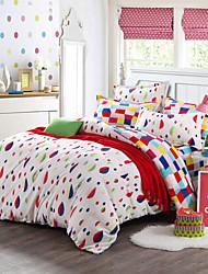 Leaves Print Bedlinen Fleece winter bedding set queen king size soft bedsheet pillowcase Duvet cover 4pcs bed set