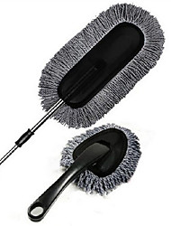 Gray 2 Pcs Wax Brush Wax Trailers Retractable Nanowires Washing Duster