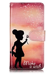 EFORCASE® Painted Girl PU Phone Case for Huawei honor 8