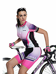 SANTIC Cycling Jersey with Shorts Women's Short Sleeve Bike Breathable Quick DryShorts Jersey Jersey + Pants/Jersey+Tights Clothing