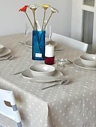 Floral  Rectanglar White Tablecloth Marguerite Decorative Cotton Linen Macrame Table Cover for Kitchen Dinning Room