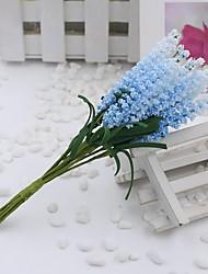 1 1 Une succursale Polyester Lavande Fleur de Table Fleurs artificielles 5.9inch/15cm
