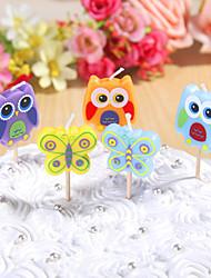partido velas de aniversário decoração happybirthday definido (5 peças) de banda desenhada pequena vela