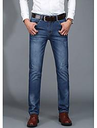 Men's Solid Casual JeansCotton Blue